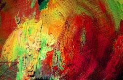 Het abstracte schilderen door olie op een canvas, illustratie, achtergrond Stock Afbeelding