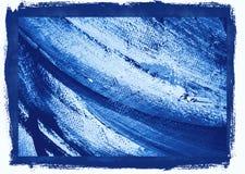 Het abstracte schilderen in koude tonen, achtergrond Stock Foto