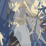 Het abstracte schilderen met scherpe lijnen op een donkere achtergrond vector illustratie