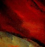 Het abstracte schilderen op canvas met actief rood, Stock Foto's