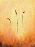 Het abstracte schilderen van bloemen royalty-vrije illustratie