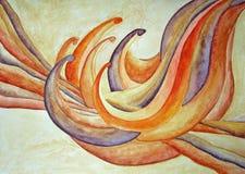 Het abstracte schilderen van de bloem Stock Afbeeldingen