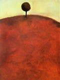 Het abstracte schilderen van een boom
