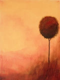 Het abstracte schilderen van een boom royalty-vrije illustratie