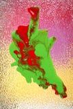 Het abstracte Schilderen van het Glas stock afbeelding