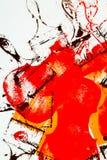 Het abstracte schilderen voor achtergrond Royalty-vrije Stock Fotografie