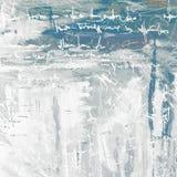 Het abstracte schilderen voor binnenland op een grijze achtergrond met imitati vector illustratie