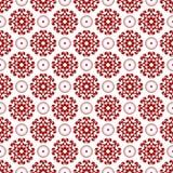 Het abstracte Sier Oosterse Bloemen Naadloze Koninklijke Uitstekende Arabische Chinese Transparante Rode Behang van de Patroontex stock illustratie