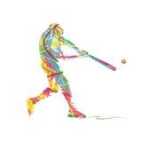 Het abstracte Silhouet van de honkbalsport Stock Afbeeldingen