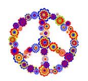 Het abstracte symbool van de vredesbloem royalty-vrije illustratie