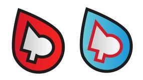 Het abstracte symbool van het embleemontwerp in twee kleurenvarianten Royalty-vrije Stock Foto's