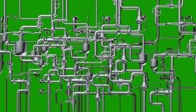 Het abstracte systeem van de pijpleiding Stock Foto's