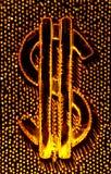 Het abstracte Teken van de Dollar Stock Foto's