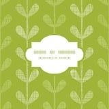 Het abstracte textiel groene naadloze kader van wijnstokkenbladeren vector illustratie