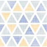 Het abstracte textiel naadloze patroon van ikatdriehoeken stock illustratie