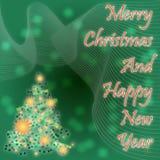 Het abstracte thema van Kerstmis Stock Fotografie
