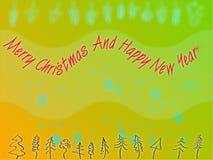 Het abstracte thema van Kerstmis Royalty-vrije Stock Afbeeldingen