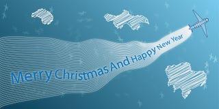 Het abstracte thema van Kerstmis Stock Afbeeldingen