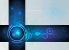 Het abstracte toekomstige digitale concept van de wetenschapstechnologie stock illustratie