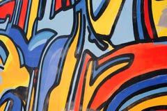 Het abstracte trekken op de muur, straatart. stock fotografie