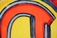 Het abstracte trekken op de muur, straatart. royalty-vrije stock foto