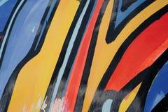 Het abstracte trekken op de muur, straatart. royalty-vrije stock afbeelding