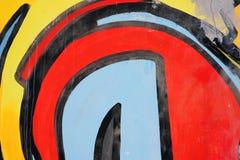 Het abstracte trekken op de muur, straatart. stock foto