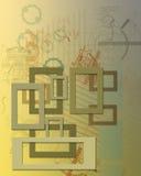 Abstracte tekening Royalty-vrije Stock Afbeeldingen