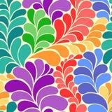 Het abstracte trillende naadloze vectorpatroon van hippiejaren '60 vector illustratie
