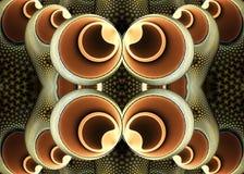 Het abstracte unieke 3d computer geproduceerde fractal kunstwerk van het ballenpatroon bovenop elkaar vector illustratie