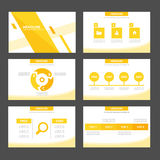 Het abstracte van het Blad groene infographic element en pictogram vlakke ontwerp van presentatiemalplaatjes plaatste voor het pa Stock Foto