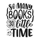 Het abstracte van letters voorzien over boeken en het lezen voor afficheontwerp Met de hand geschreven brieven Typografie grappig royalty-vrije illustratie
