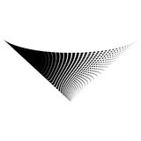 Het abstracte vector halftone ontwerp van het het symboolpictogram van het kegelembleem Stock Fotografie