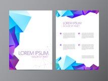 Het abstracte vector moderne ontwerp van de vliegerbrochure Stock Afbeeldingen