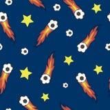Het abstracte vector naadloze patroon van voetbalballen Royalty-vrije Stock Foto's