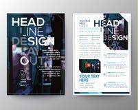 Het abstracte Vectormalplaatje van de het ontwerplay-out van de Brochurevlieger Royalty-vrije Stock Foto
