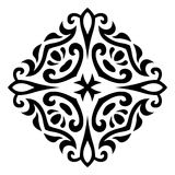 Het abstracte vectorornament van de mehnditatoegering royalty-vrije illustratie