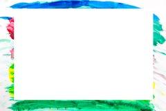 Het abstracte veelkleurige frame van Grunge Stock Afbeeldingen