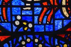 Het abstracte Venster van het Gebrandschilderd glas Stock Afbeelding