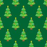 Het abstracte vlakke patroon van stijl naadloze Kerstmis royalty-vrije illustratie