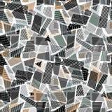 Het abstracte vuile naadloze patroon van lijntexturen vector illustratie