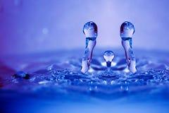 Het abstracte water daalt dicht omhoog Royalty-vrije Stock Foto's