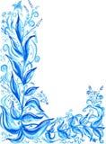 Het abstracte waterverf schilderen Royalty-vrije Stock Afbeelding