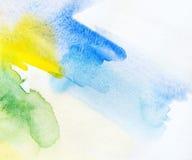 Het abstracte waterverf schilderen. Royalty-vrije Stock Afbeelding