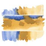 Het abstracte waterverf schilderen Stock Foto