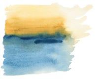 Het abstracte waterverf schilderen Stock Foto's