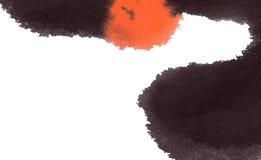Het abstracte waterverf schilderen Stock Afbeelding