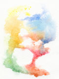 Het abstracte waterverf schilderen. Royalty-vrije Stock Fotografie