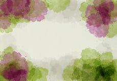 Het abstracte waterverf schilderen Stock Afbeeldingen