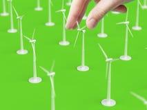Het abstracte windturbine herstellen Royalty-vrije Stock Fotografie